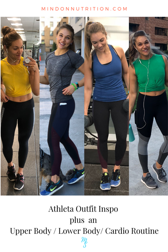 3 Gym Workouts and 3 Healthy Dinner Meals plus Athleta Outfit Inspo!