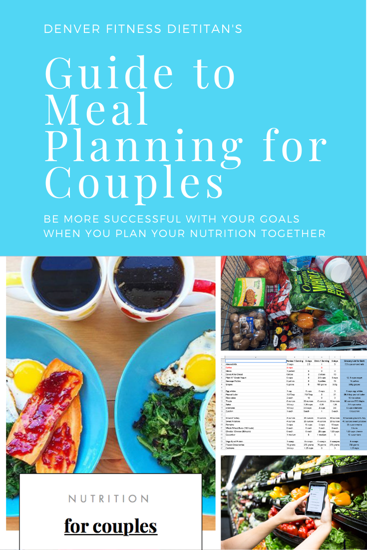 Couples meal planning and meal prepping