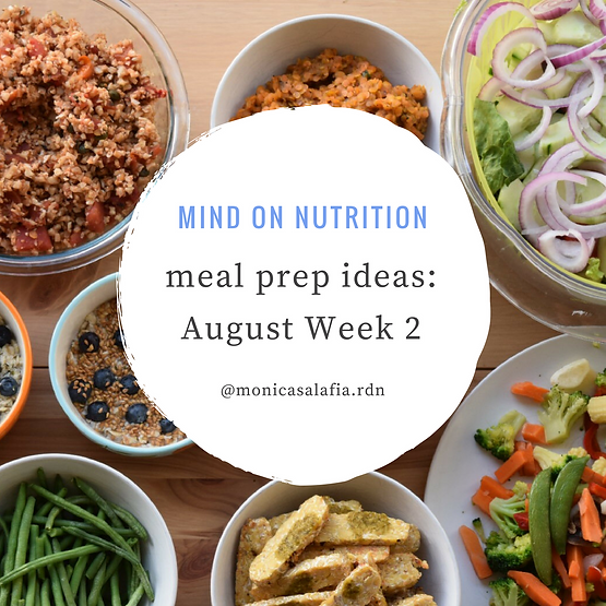 Meal Prep Ideas: August Week 2 | Home | Mind on Nutrition