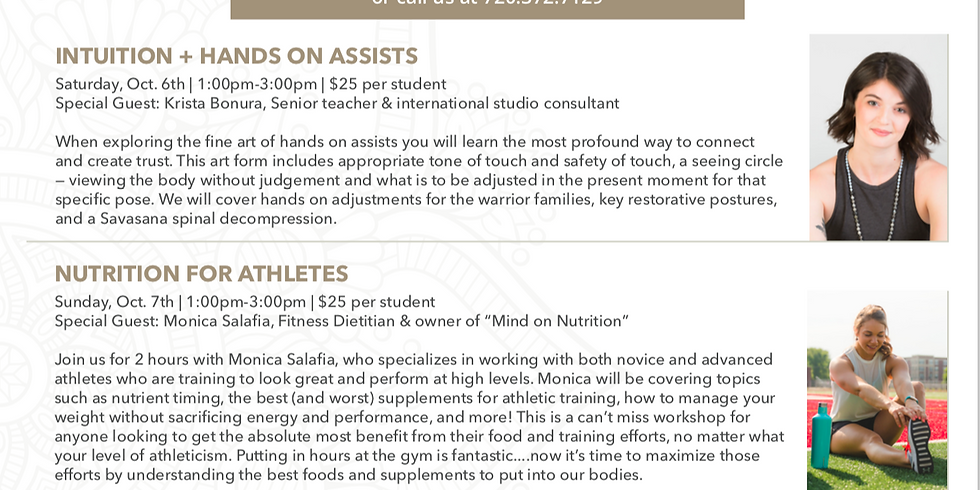 Nutrition for Athletes @ YogaPod Lowry!