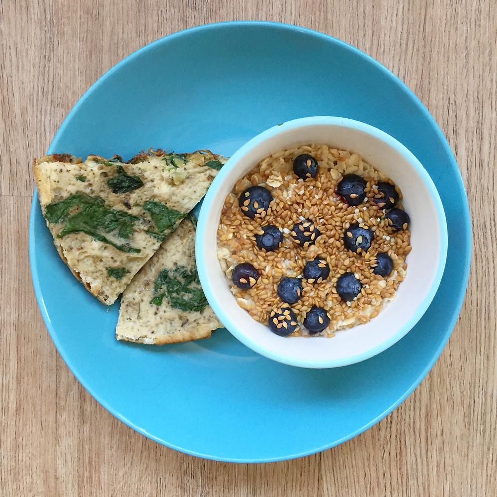 blueberry spinach fritatta