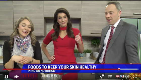 Nutrition for Healthy Skin: TV Segment & Recipe!