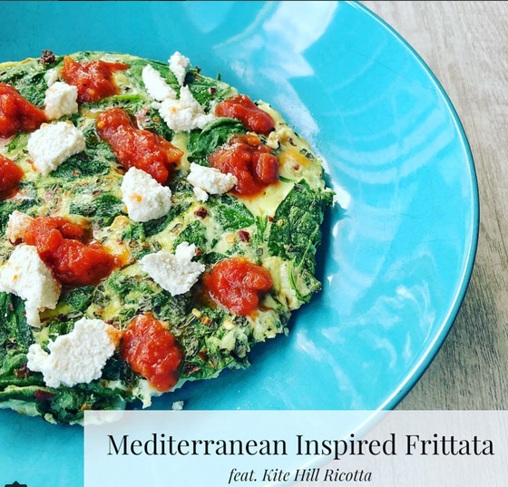 Mediterranean Inspired Veggie Frittata with Dairy Free Ricotta