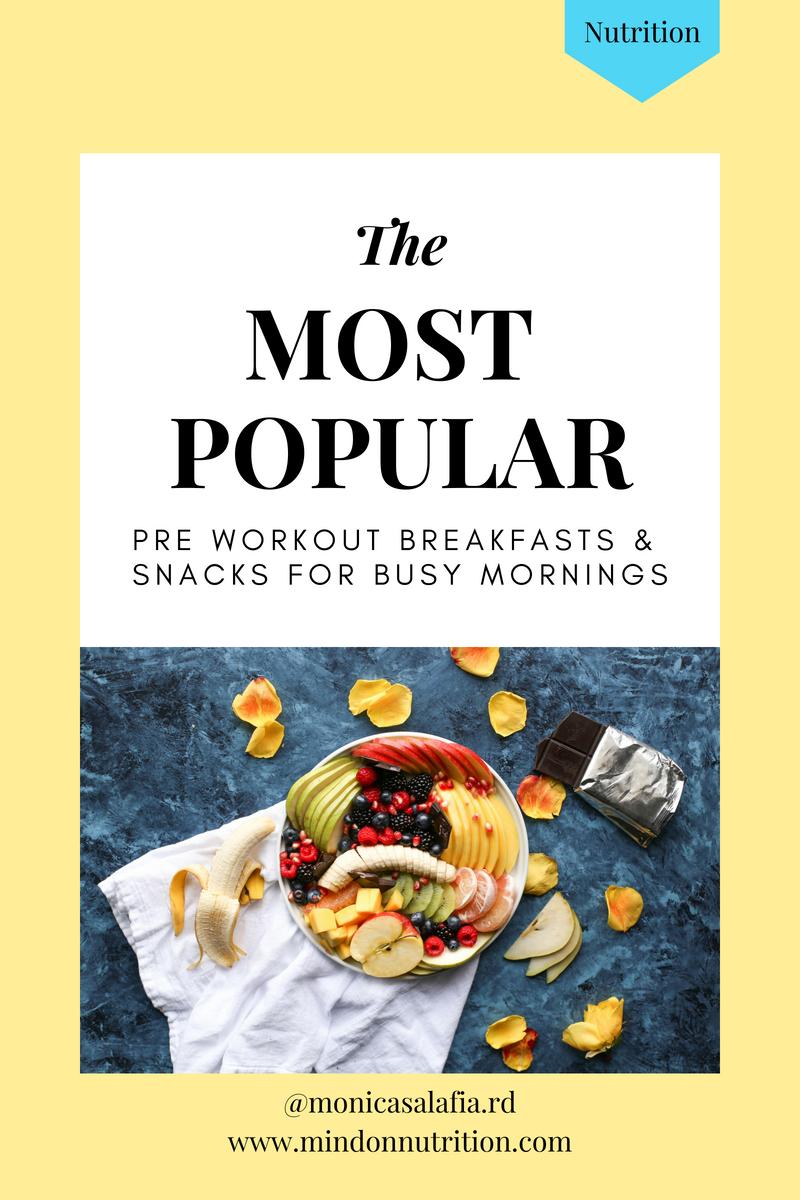 mind on nutrition popular pre workout snacks
