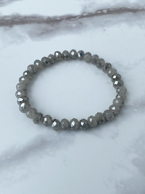Gray Mirrored Crystal (6mm)