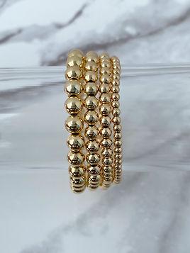 14k Gold Filled Bead Bracelets