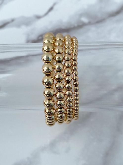 14k Gold Plated Bracelets (6mm, 5mm, 4mm, 3mm)