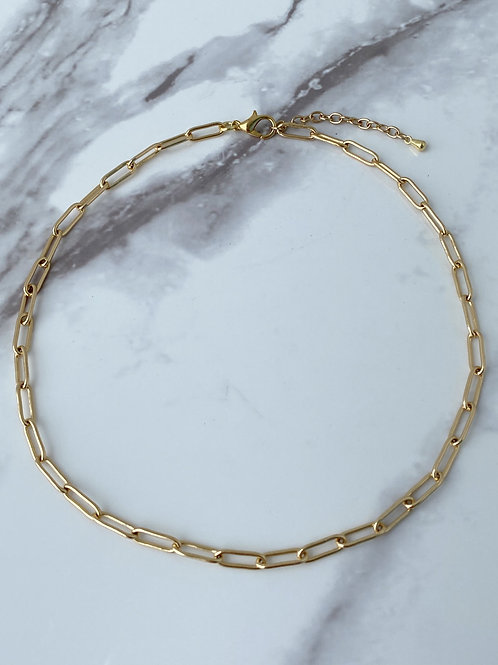 Paper Clip Chain - Gold Plated