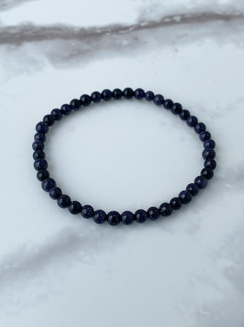 Blue Goldstone (4mm)