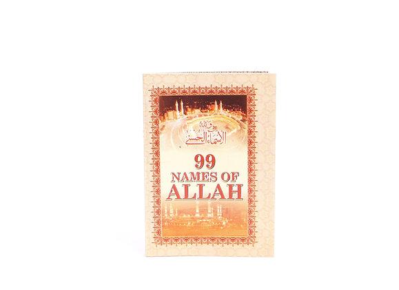 99 Names of Allah Pocket - English
