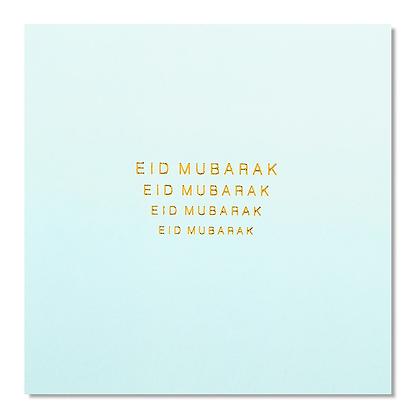 Eid Mubarak - Rose & Co - Gold Foiled - Powder Blue RC 04 -