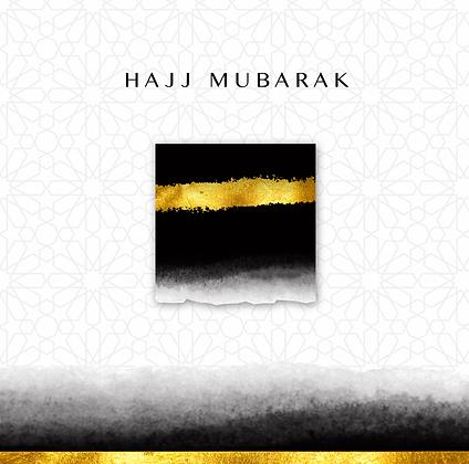 Hajj Mubarak - Black and Gold - HAJJ 18