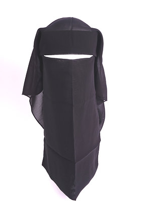 Niqab Double Layer Velcro