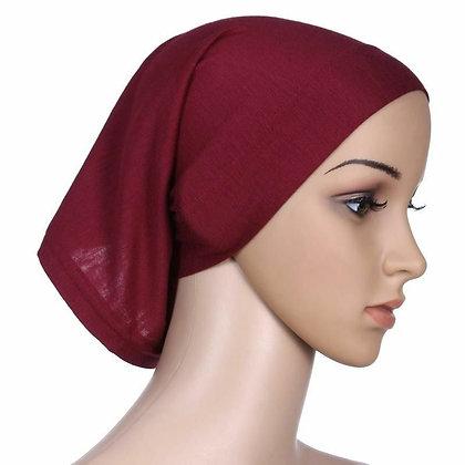 Plain Red Tube Bonnet