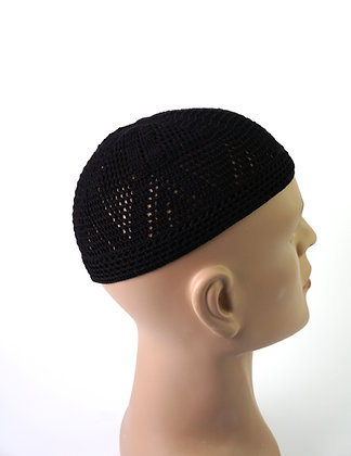 Damishq Black Hat ( Hand Knitted )