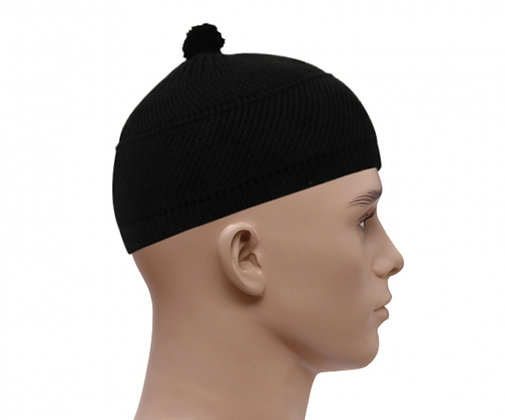 Woolly Style Topi Prayer Hat - Black