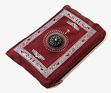 Travel Prayer Mat with Compass