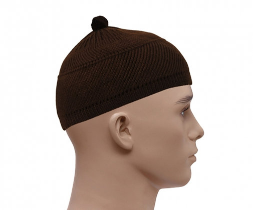 Woolly Style Topi Prayer Hat - Brown