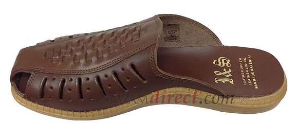 Real Leather South African ( Style ) Slippers - Brown