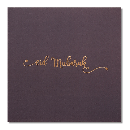 Eid Mubarak - Rose & Co - Gold Foiled - Grey RC 06