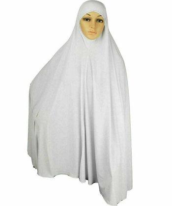 Yusra 2in1 Burkha White