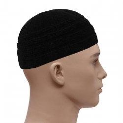 Soft Velvet Striped Prayer Hats