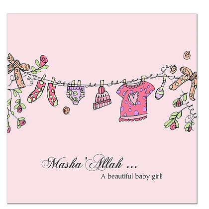 Baby Girl - Pink Clothes Line CD 06