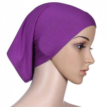Plain Purple Tube Bonnet