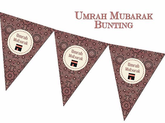 Umrah Mubarak Bunting Copper - FUB 03