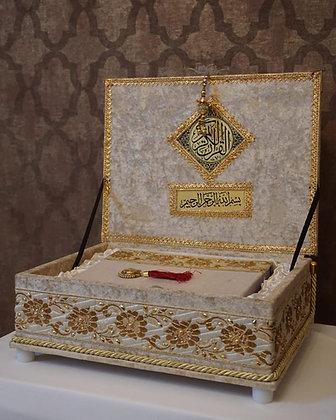 Velvet Quran Box With Quran