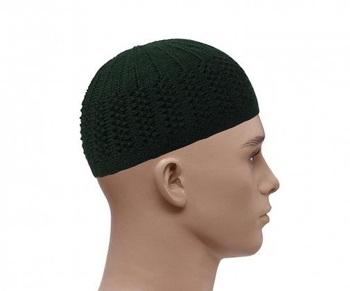 Mens Double Layer Prayer Hat - Green