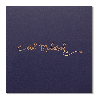 Eid Mubarak - Rose & Co - Gold Foiled - Navy RC 07