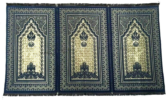 Extra Large Quality Shiny Triple Prayer Mat