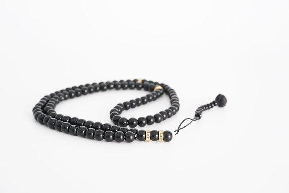Quality Glass Prayer Beads Tasbih - Black