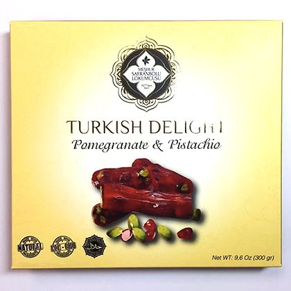 Turkish 'Finger' Delights with Pomegranate Flavour and Pistachio