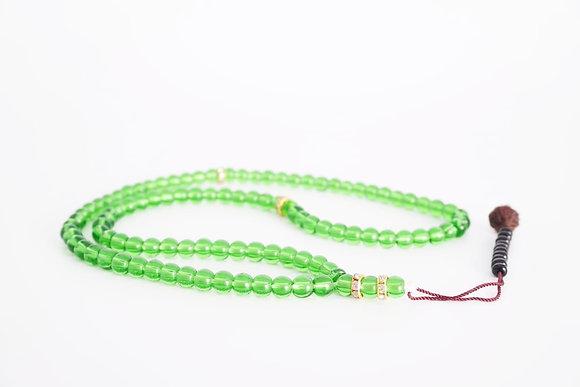 Quality Glass Prayer Beads Tasbih - Green
