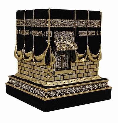 Islamic Table Decor Kaba Replica Gold & Black
