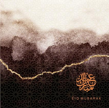 Eid Mubarak - Rose & Co Ombré - Gold Foiled - Chocolate RC 16