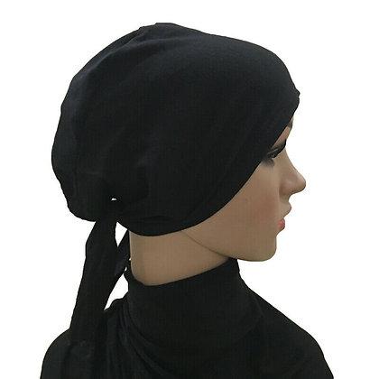 Plain Black Tie On Bonnet