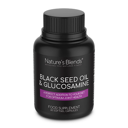 Black Seed Oil & Natural Glucosamine Capsules