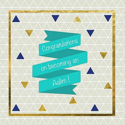 Congratulations on becoming an Aalim ILM 05