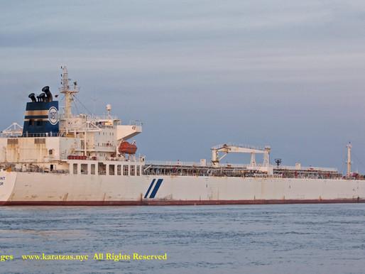 Images of Tanker MT 'Hellespont Protector' in Lower Mississippi River