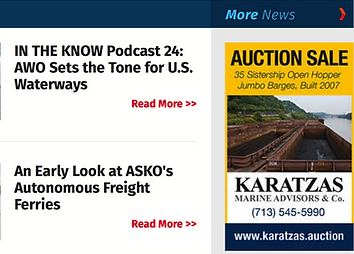 Karatzas Auctions Hopper Barge in Maritime Executive