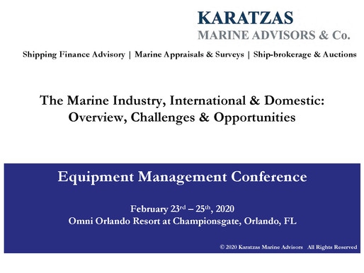 Presentation on the Marine Industry at the ELFA Equipment Management Conference in Orlando