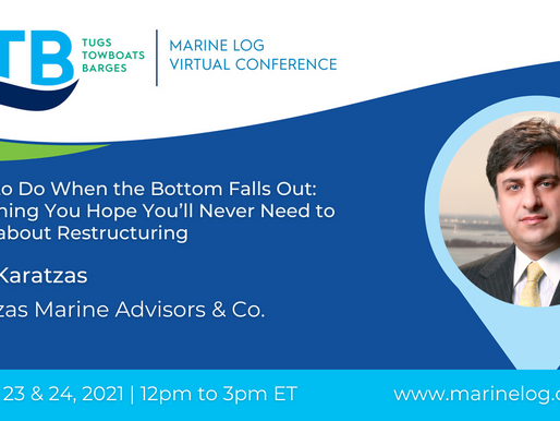 Basil M Karatzas to Speak at MarineLog Tugs, Towboats and Barges (TTB) Virtual Conference