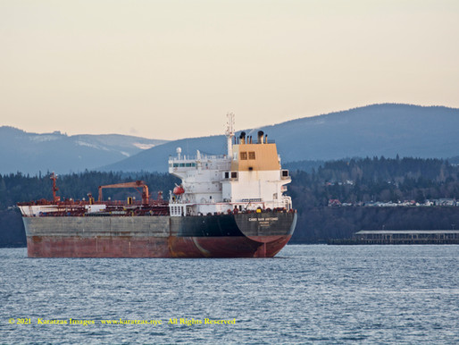 Images of Panamax Tanker MT 'Cabo San Antonio' in the Port Angeles, WA