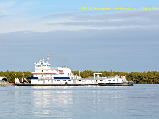 Images of Ingram Barge's Towboat MV 'David G Sehrt' in the Lower Mississippi River