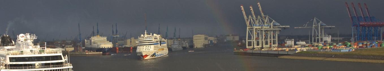 Rainbow and Cruiseships in Hamburg - AIDAMar 13 BMK_4145 web.jpg