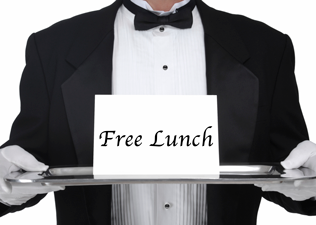 No such thing as a free lunch!