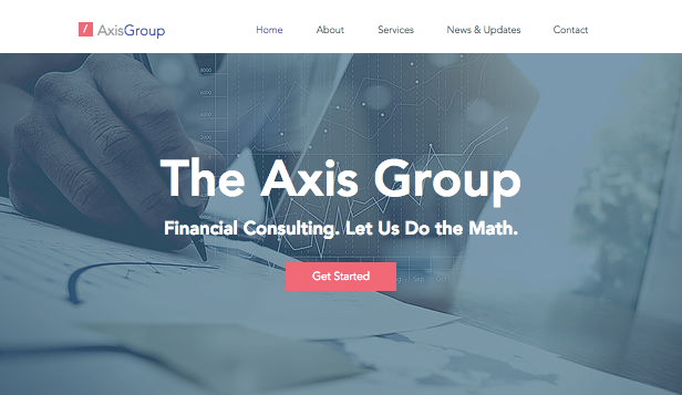 Business website templates wix business website templates finance consulting wajeb Image collections